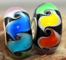 Rainbow Arcobaleno Arco Iris no. 1 vetro murano bead 925 Sterling Argento beads