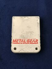 Carte Memoire Memory Card PS1 Playstation - Metal Gear