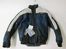 Nitro N-65 Waterproof Black/Navy Blue Textile Motorcycle Jacket (SMALL)