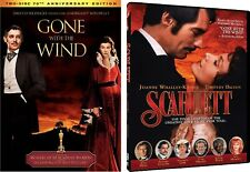 Gone With The Wind 1 & 2 Scarlett (3 DVD SET, 2017) NEW