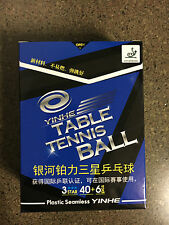6xYinhe 3 star 40+ poly ball white pingpong ball ITTF seamless shipping from CA