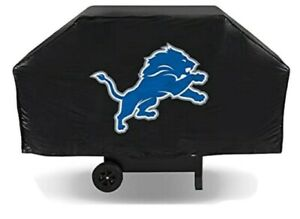 """NFL Detroit Lions Logo Economy BBQ Grill Cover Durable Vinyl Fits Most Up To 68"""""""