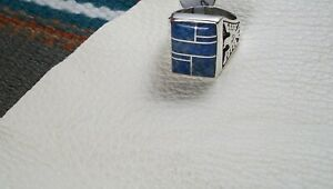 Lapis Inlay Ring, size 11