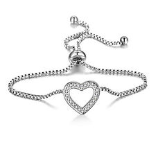 Heart Friendship Bracelet with Crystals from Swarovski® in Gift Pouch
