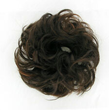dt hair scrunchie Chocolate Brown with Copper Highlights 17:6h30 peruk
