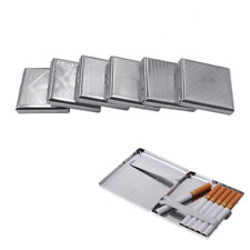 Stainless Steel 20 Pieces Cigar Cigarette Tobacco Holder Storage Case Pocket Box