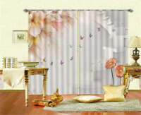 Colourful Butterfly 3D Curtain Blockout Photo Printing Curtains Drape Fabric