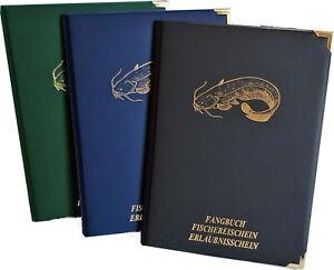Etui für Angelschein, Fischereischeinmappe,  Angeln, Fangbuch, Fischmotiv Wels