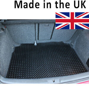 For Seat Ibiza MK4 2008-2015 6J Fully Tailored Black Rubber Car Boot Mat
