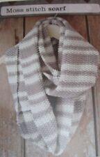 Moss Stitch Striped Scarf ~ D.K Knitting Pattern ~ Easy Knit