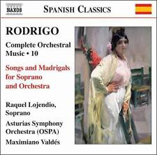 Rodrigo: Songs and Madrigals for Soprano and Orchestra, New Music