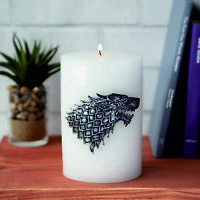 Game of Thrones Haus STARK Winterfell Kerze XXL Insignia 15 cm 1 kg Luminaries