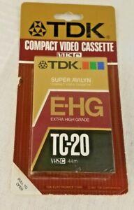 TDK E-HG TC-20 SUPER AVILYN VHS-C Camcorder Tape Factory Sealed 44m New OBSOLETE