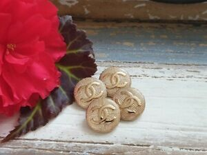 Lot Of 4 Chanel Gold Buttons 22mm