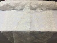 Lace Fabric - Sequins Mesh For Dress Decoration & Bridal Veil White By 1 Yard