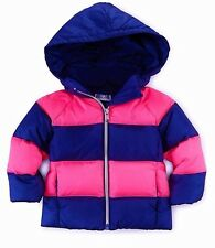$119 NWT Ralph Lauren Baby Girls' Rugby Quilted Down Jacket Coat  6 Months