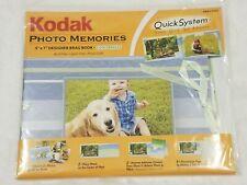Kodak Photo Memories - 5x7 -Designer BRAG BOOK Album Kit- COOL BREEZE Blue NEW