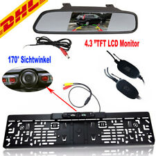 DHL Funk IR LED Rückfahrkamera kennzeichen kabellos Nummernschild Einparkhilfe