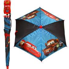 "Disney Pixar Cars Kids 22"" Umbrella w 3D Figure Molded Handle Mcqueen & Mater"