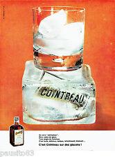 PUBLICITE ADVERTISING 026  1963  Cointreau  liqueur verre old fashion