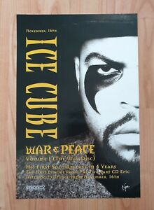 Ice Cube War And Peace Promo Poster Ultra Rare