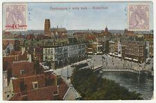 Rotterdam, Panorama v witte huis, alte AK 1921 gel.
