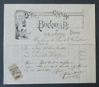 Facture 1899 BRICFEUX Joaillerie Art Nouveau Jugenstil belle entête illustrée 24