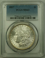 1897 Morgan Silver Dollar $1 Coin PCGS MS-63 (20)