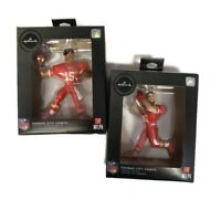 Lot of 2 Hallmark Christmas Tree Ornaments NFL KC Chiefs Mahomes and Kelce