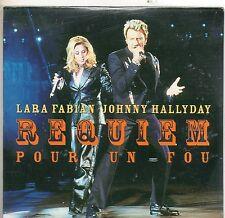 CD CART 2T JOHNNY HALLYDAY& LARA FABIAN REQUIEM POUR UN FOU   NEUF    SCELLE