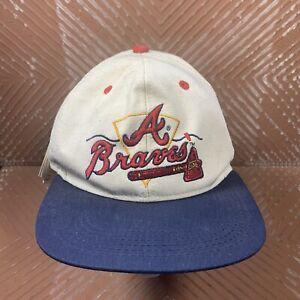 Vintage Atlanta Braves Hat Cap Fitted Drawstring USA Apparel #1 MLB