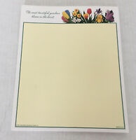 Vintage stationery writing  tablet The most beautiful gardens bloom in the heart