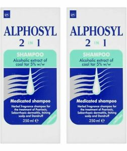 Alphosyl 2-in-1 Medicated Shampoo 250ml (2 PACKS)