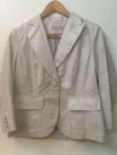 BLANCS MANTEAUX Paris Shiny White One Button Blazer size 40 or US size 8