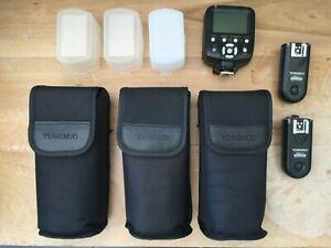 Yongnuo YN560-IV Speedlite Kit - 3 Flash Units & 3 Controllers / VG condition