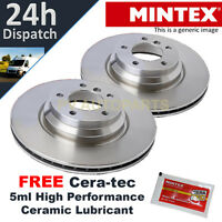 2X REAR BRAKE DISCS FOR DODGE AVENGER CALIBER (2006-) CHOICE 2 BRAND NEW MINTEX