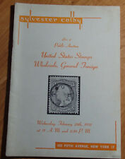 Feb 28th 1951 Sylvester Colby Public Stamp Auction Booklet Held 505 Fifth Ave Ny