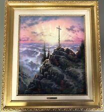 "Thomas Kinkade ""Sunrise"" Canvas - 20"" x 24"" - Sn Edition - Antique Gold Frame"