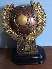 SOCCER (#6) FOOTBALL RESIN TROPHY AWARD  180mm HIGH & HEAVY Special Sale 66 only