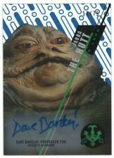 2016 Star Wars High Tek Autographs Blue Dave Barclay Jabba the Hut Auto 51/75