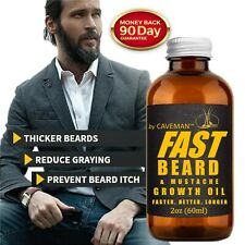 FAST BEARD GROW Beard & Mustache Accelerator - #1 FACIAL HAIR GROWTH OIL!