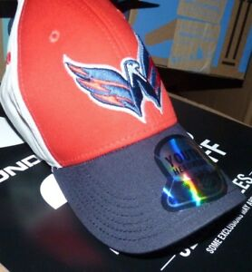 NEW NHL Washington Capitals Youth Boys Adjustable Curved Brim Baseball Hat Cap