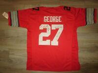 Eddie George OSU Buckeyes Ohio State Football Jersey LG Nwt Autograph Signed Au