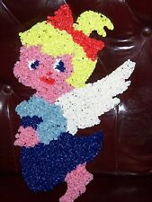 VINTAGE MELTED PLASTIC POPCORN WALL DECOR, LITTLE ANGEL GIRL