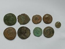 MIXED LOT OF 9 LARGE ANCIENT ROMAN AND BYZANTINE BRONZE COINS II-XII CENTURY AD
