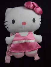 HELLO KITTY Pink and White Play Backpack with Straps & Pouch  (Internal IDrak)