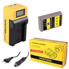 Batteria Patona + caricabatteria Synchron LCD USB per Olympus Pen E-PM1