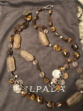 SILPADA N1826 Sterling Silvr, Copper, Tiger Eye, Ceramic Shell Necklace Was $139