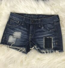 NEW Artisan De Luxe Patched Denim Jeans Shorts Size 27