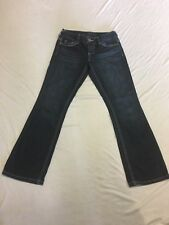 Maurices Women's Size 3/4 Short Straight Leg Dark Wash Denim Blue Jeans